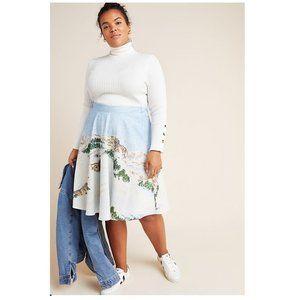 Anthropologie Corey Lynn Wonderland Midi Skirt